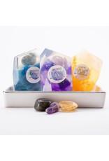 Crystal Soap Set | Citrine, Amethyst, Labradorite