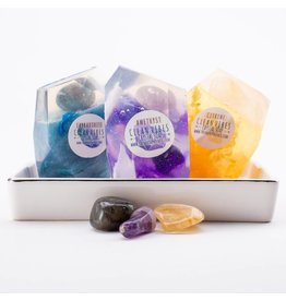 Crystal Soap Set | Citrine, Amethyst, Labradorite
