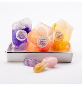 Crystal Soap Set | Citrine, Amethyst, Rose Quartz