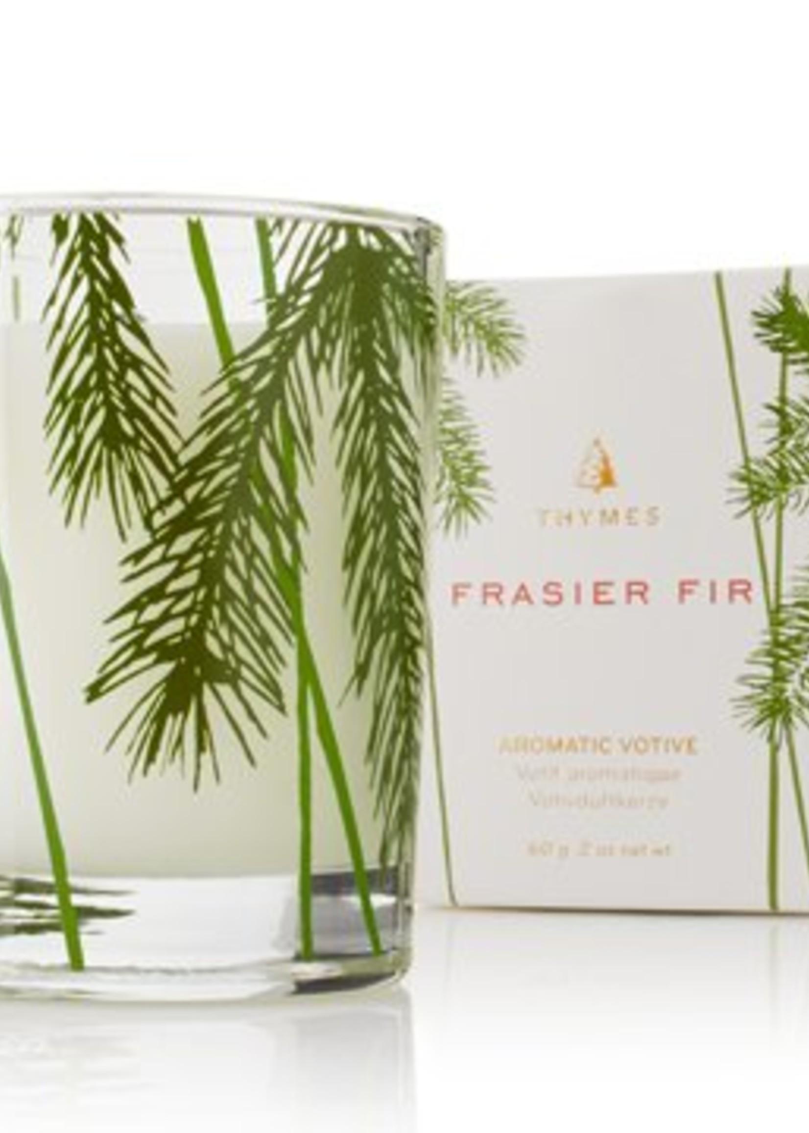 Frasier Fir Votive Candle w/ Pine Needle Design