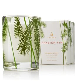 Frasier Fir Votive Candle w/ Pine Needle Design