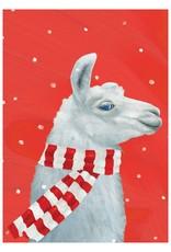 Christmas Card Cozy Llama