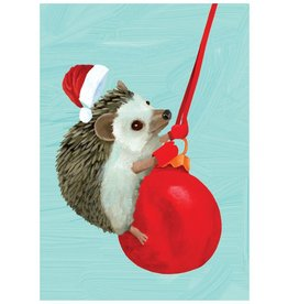 Christmas Card Hedgehog