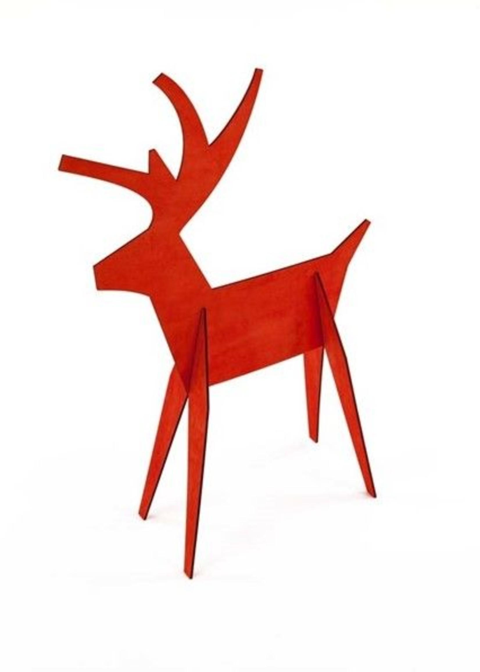 Red Alpine Wood Deer