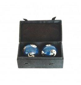 Yin Yang Cloisonne Health Balls