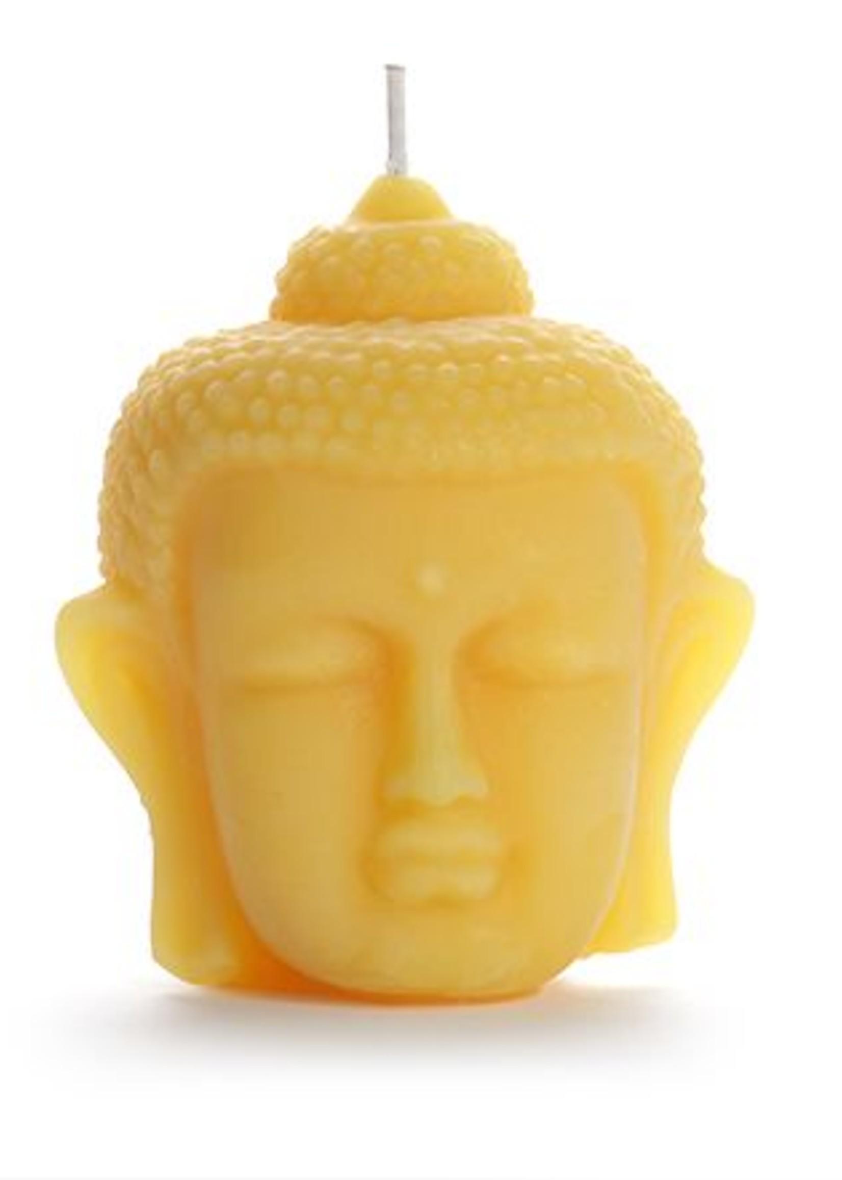 Buddha Head Beeswax Candle