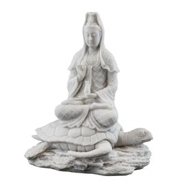 Marble Rising from Sea Quan Yin Statue