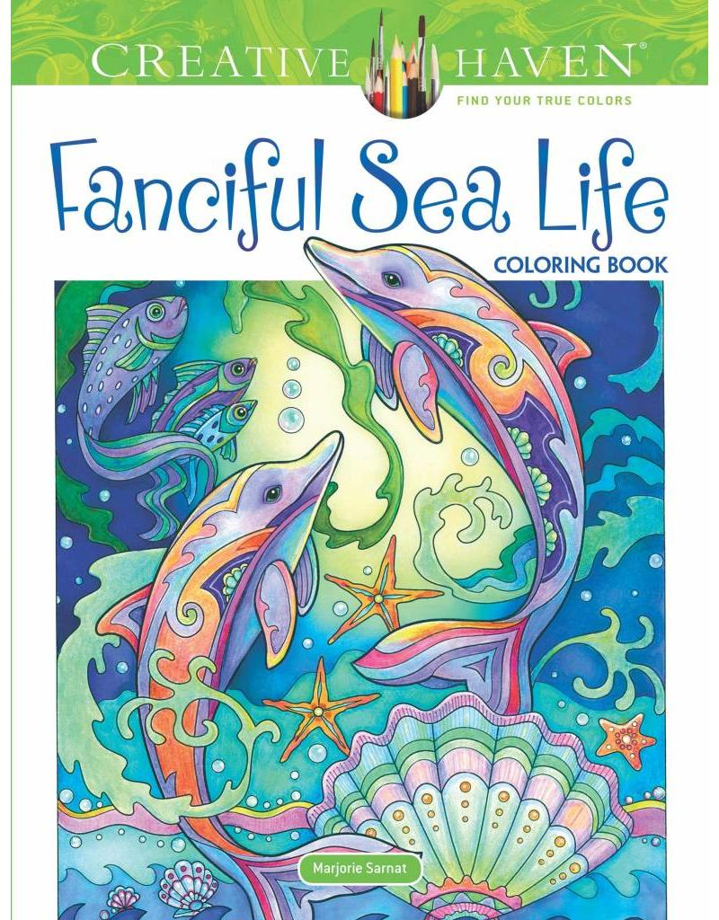 DOVE* Fanciful Sea Life Adult Coloring Book