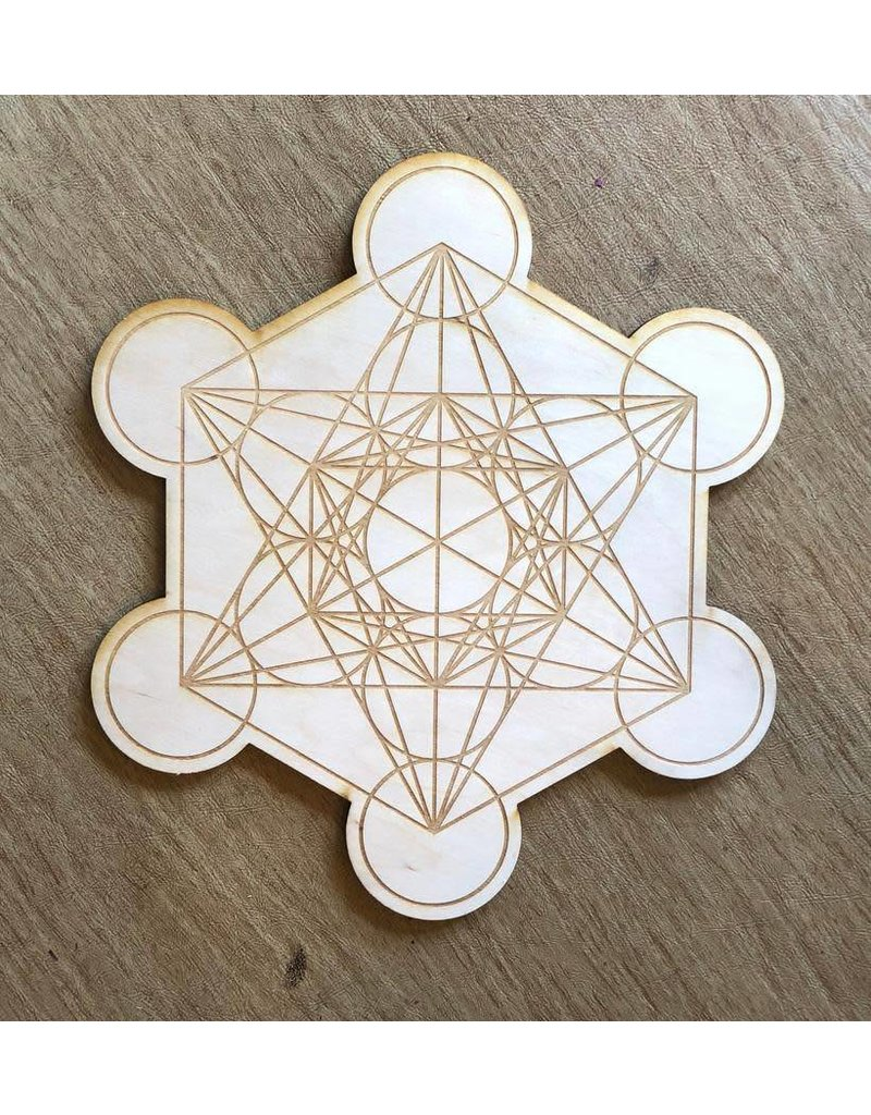 Crystal Grid Wood 12""