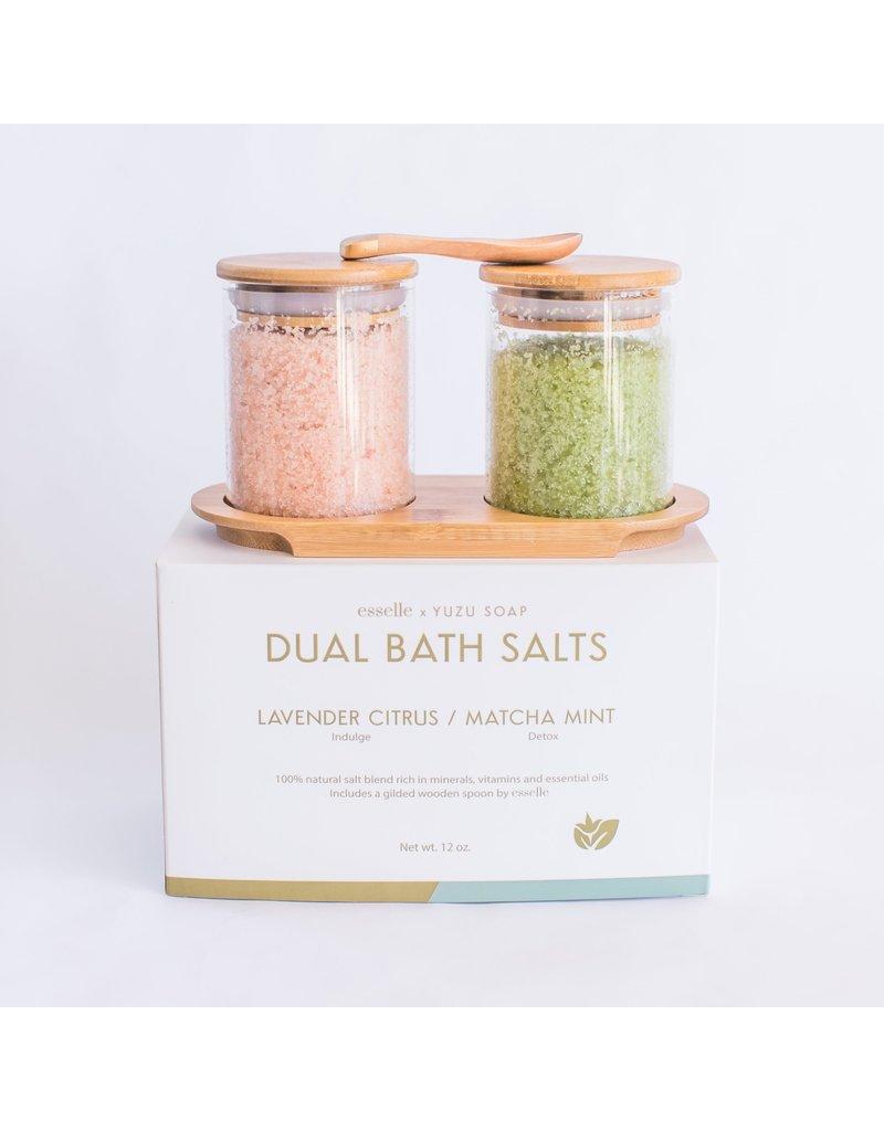 Dual Bath Salt Set - Lavender Citrus/Matcha Mint