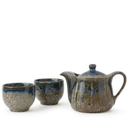Brown & Blue Glaze Tea Set