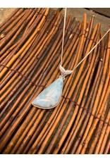 Larimar Pendant w/  Whale Tail