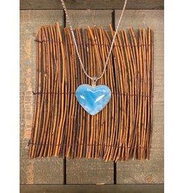 Larimar Heart Necklace