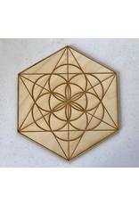 "Crystal Grid Wood 6"""