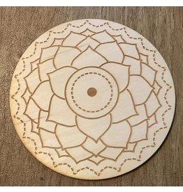 "Crystal Grid Wood 3"" - Chakra Symbols Asst."