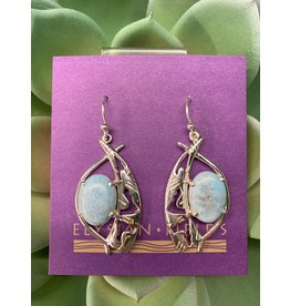 Larimar Earrings w/ Southwest Design