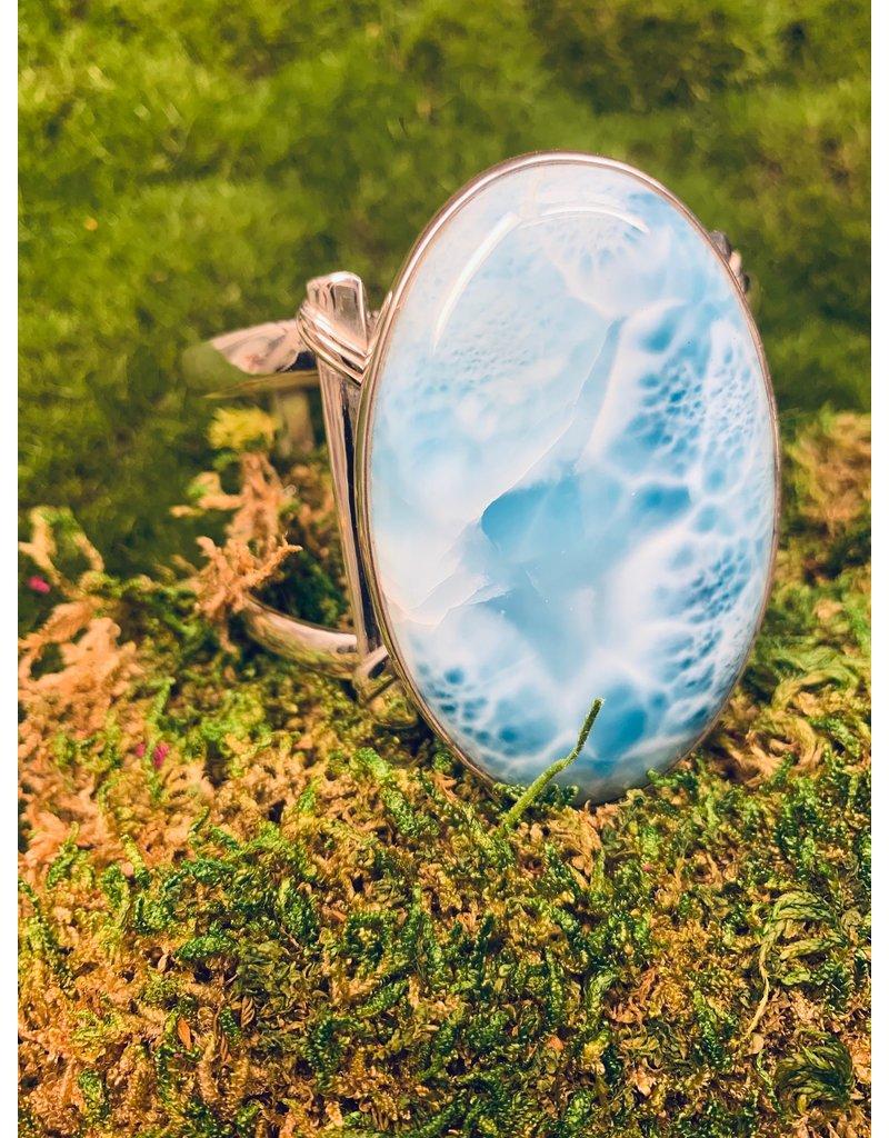 Bracelet Larimar Oval Cab SS LG
