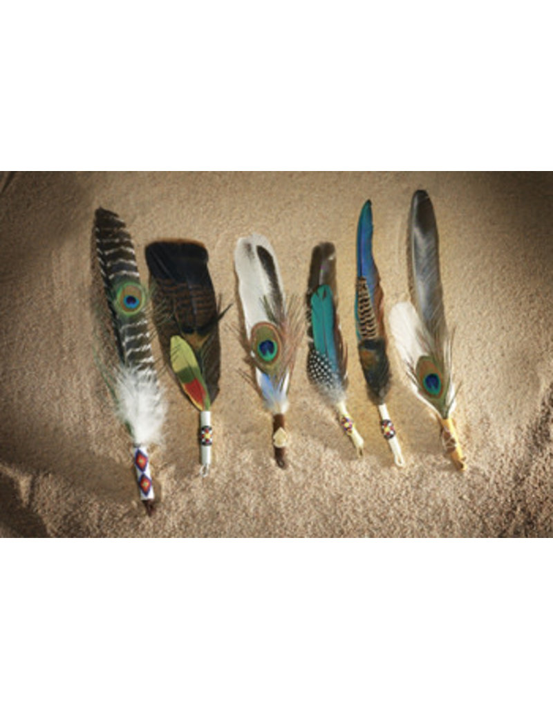 Ceremonial Smudge Feather Fans
