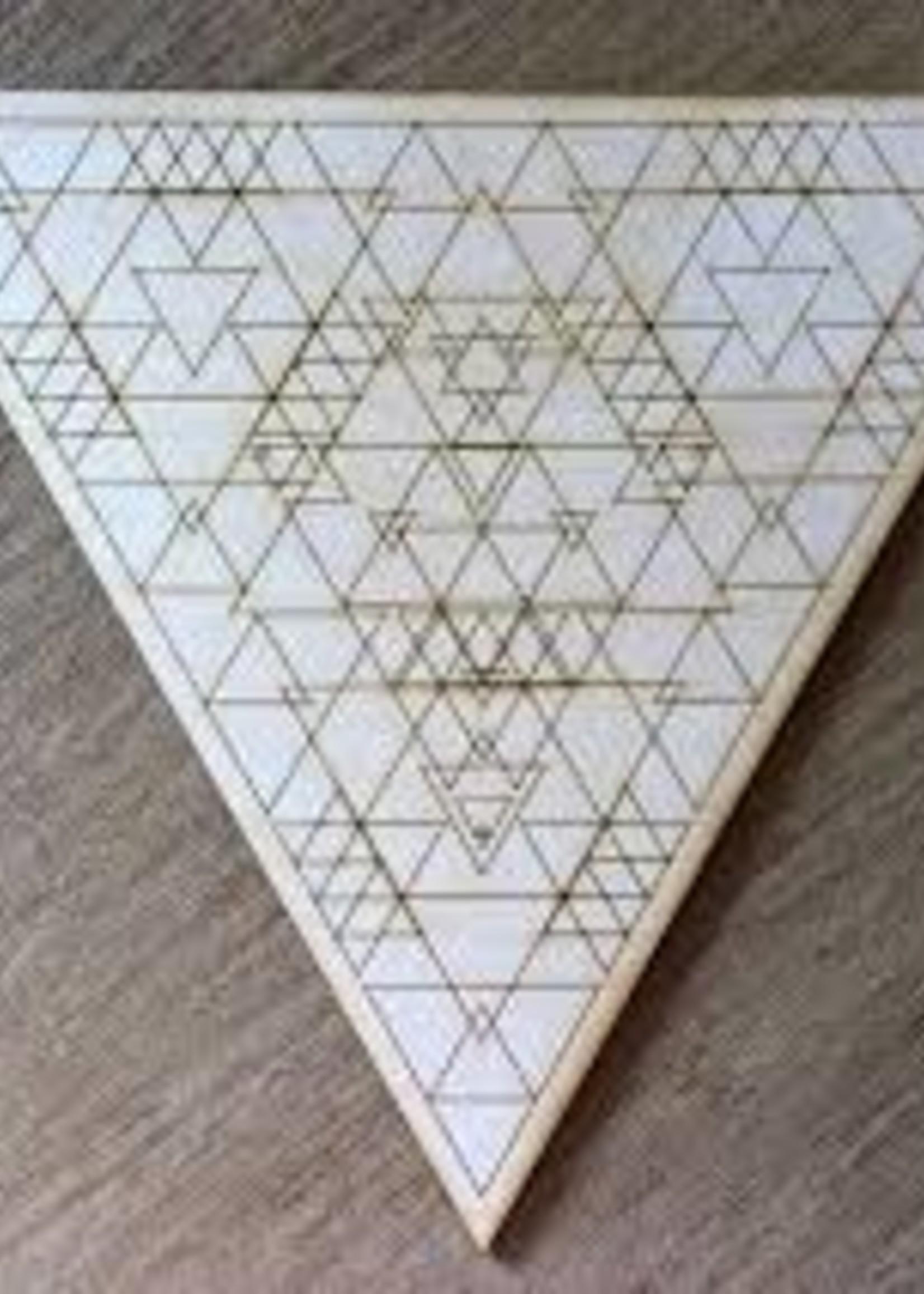 """Crystal Grid Wood 6"""" Triangle"""