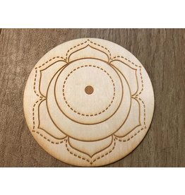 "Zen and Meow Crystal Grid Wood 3"" Sacral Chakra"