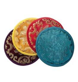 "Singing Bowl Cushions Silk 5"" - Thin Round"