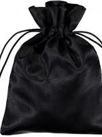 BAG SATIN 3X4 BLACK PLAIN