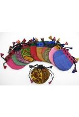 """BAG Whimsical Flower 2.75"""" Embroidered Drawstring"""