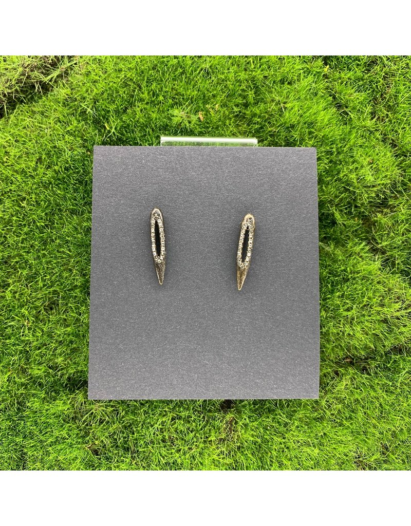 Rebel Diamond Swarovski Post Earrings