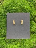 Rebel Golden Swarovski Earrings