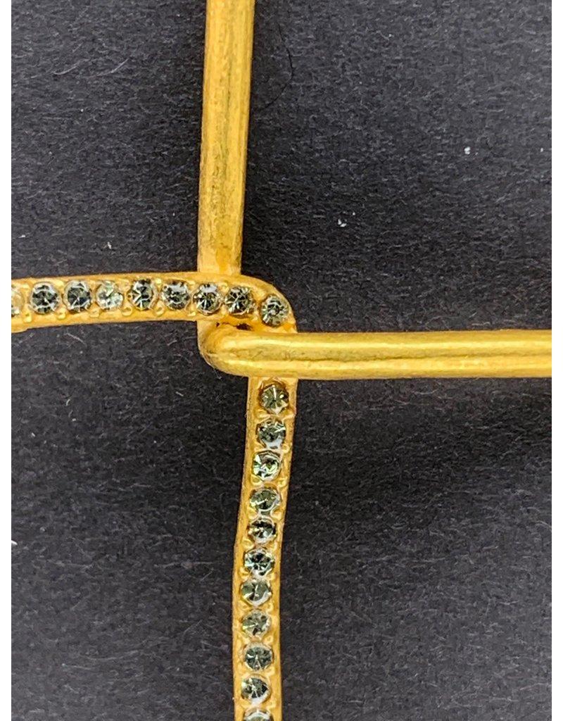 Rebel Diamond Swarovski Interlock Cross Necklace