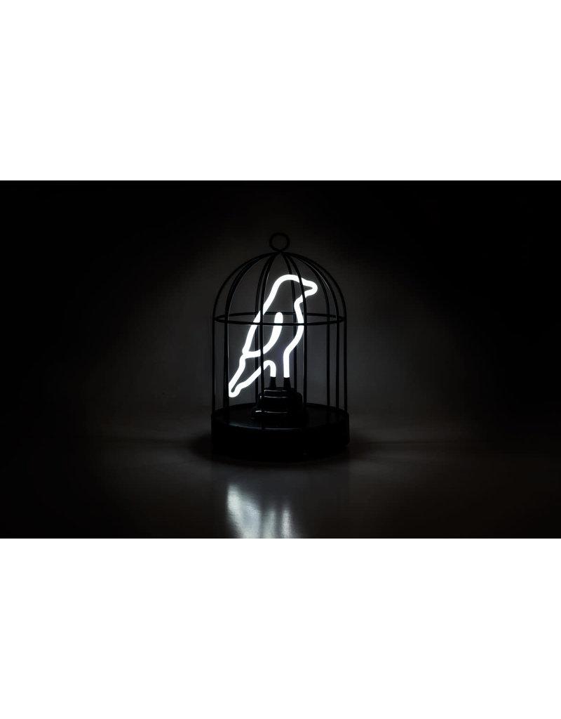 Suck UK Lamp Neon Bird In A Cage
