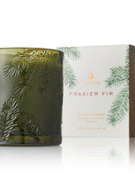 Frasier Fir Candle Molded GREEN Glass Poured