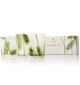 Frasier Fir Candle Pine Needle SET/2 Glass Poured Boxed 3.75oz each
