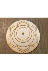 """Zen and Meow Crystal Grid Wood 4"""""""