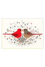 Card BX XMAS Cardinal Courtship Charley Harper