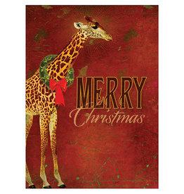 Card BX XMAS Reach Giraffe Christmas