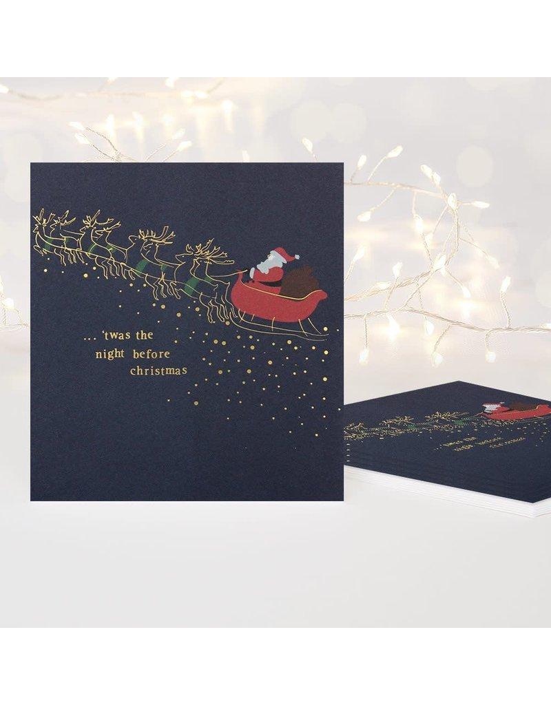 Card BX XMAS Santa ...'Twas The Night Before Chrsitmas