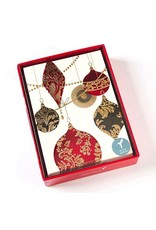 Card BX XMAS Red Ornament with Copper Tassel