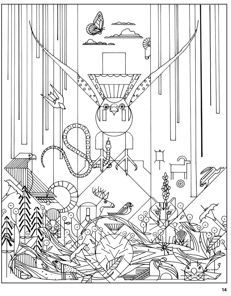 charlie harper 50 drawings adult coloring book