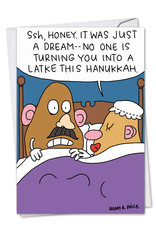 CARD HANUKKAH Ssh, Honey. It Was Just A Dream