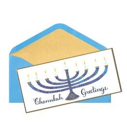 Card Hanukkah Menorah Greetings