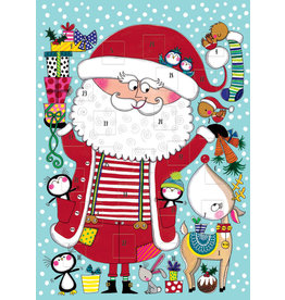 Card XMAS Advent Calendar Santa