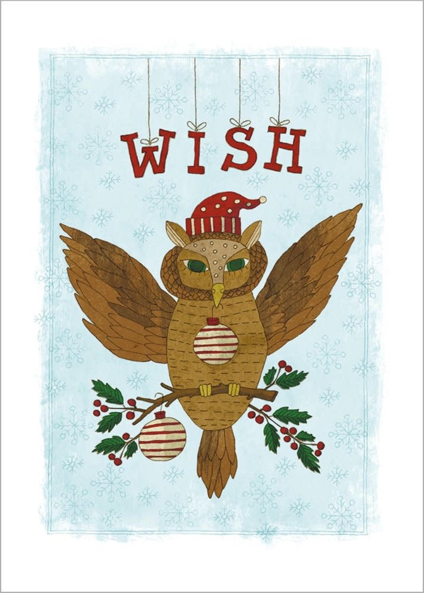 Card XMAS * Wish Owl