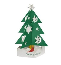 Christmas Cards Popup MoMa Snowy Pine