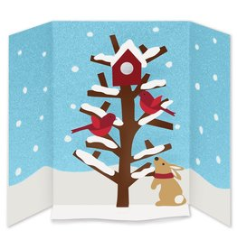 Christmas Cards Popup MoMa A&B Cheerful Cardinals