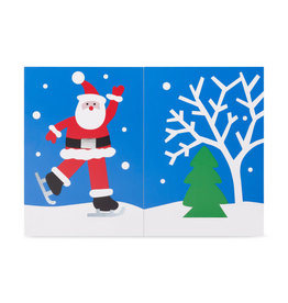 Christmas Cards Popup MoMa A&B Skating Santa