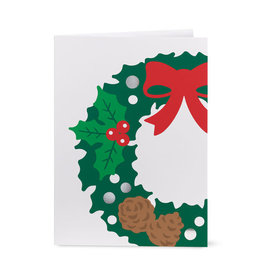 Christmas Card PopUp Holly Wreath (Pop-up)