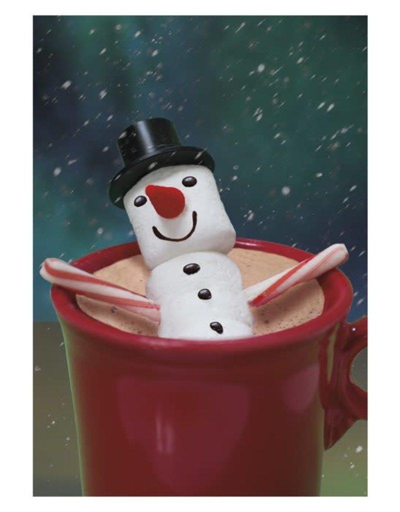 Card BX XMAS Snowman Marshmallow