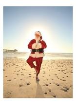 Card BX XMAS Santa Yoga Pose on Beach