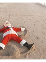 Card BX Santa Snow Angel in Sand
